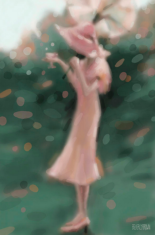 Garden Party painting by Beverly Brown | Fine art prints from $37 | www.beverlybrown.com
