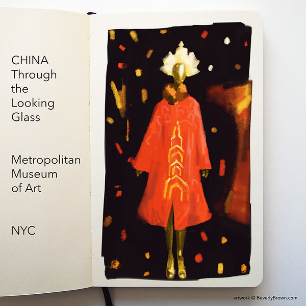 China Though the Looking Glass - Sketchbook by Beverly Brown