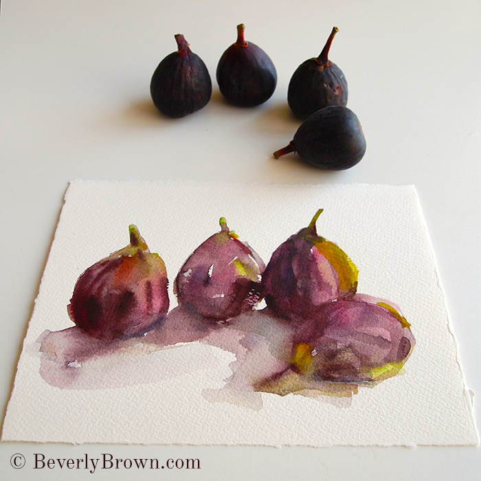 figs - watercolor painting by Beverly Brown