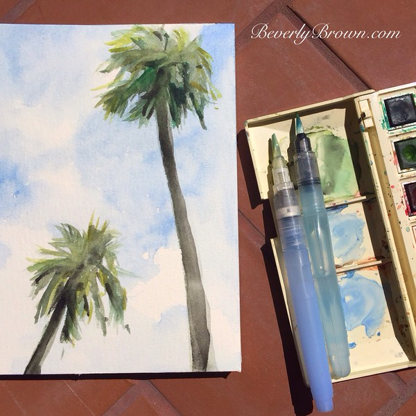 Sketching Palm Trees in Florida | Artists Sketchbook by Beverly Brown | www.beverlybrown.com