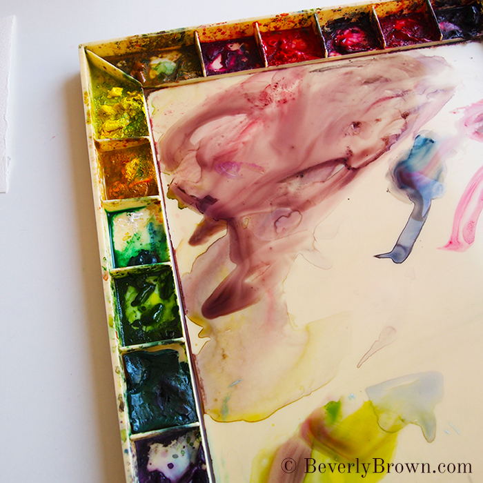 watercolor palette - Beverly Brown